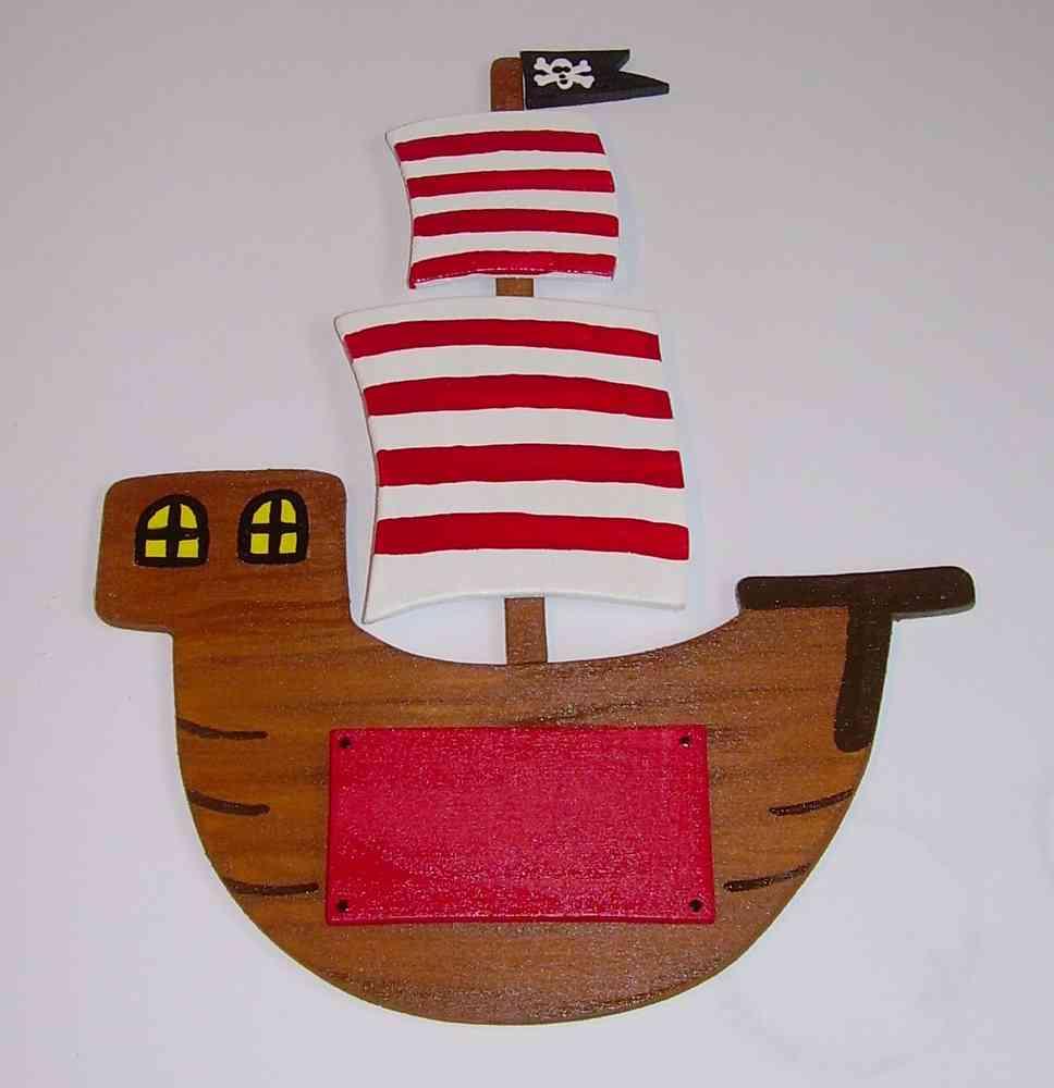 Türschild Piratenschiff - Originelle Deko & Geschenke