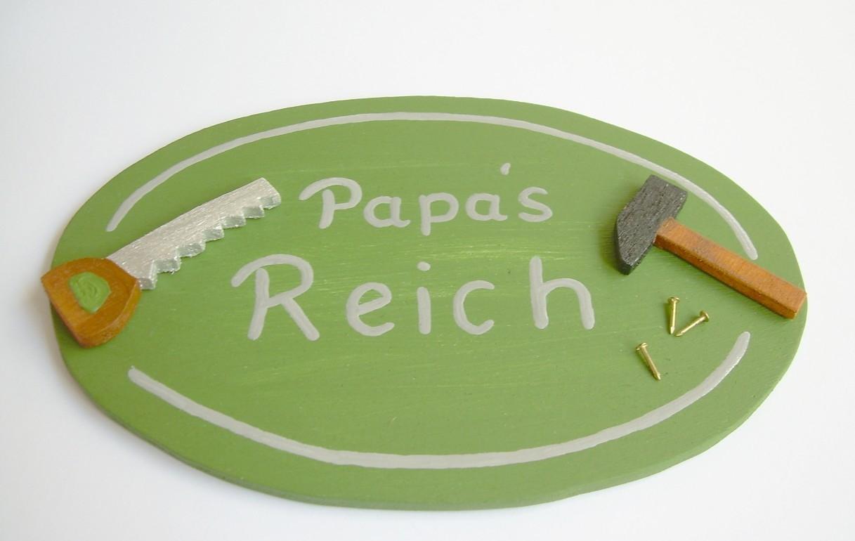 t rschild werkstatt papa s reich originelle deko. Black Bedroom Furniture Sets. Home Design Ideas