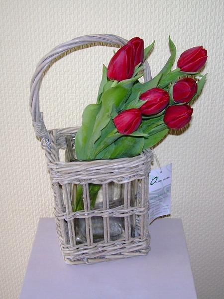 Korb mit glas originelle deko geschenke for Deko geschenke