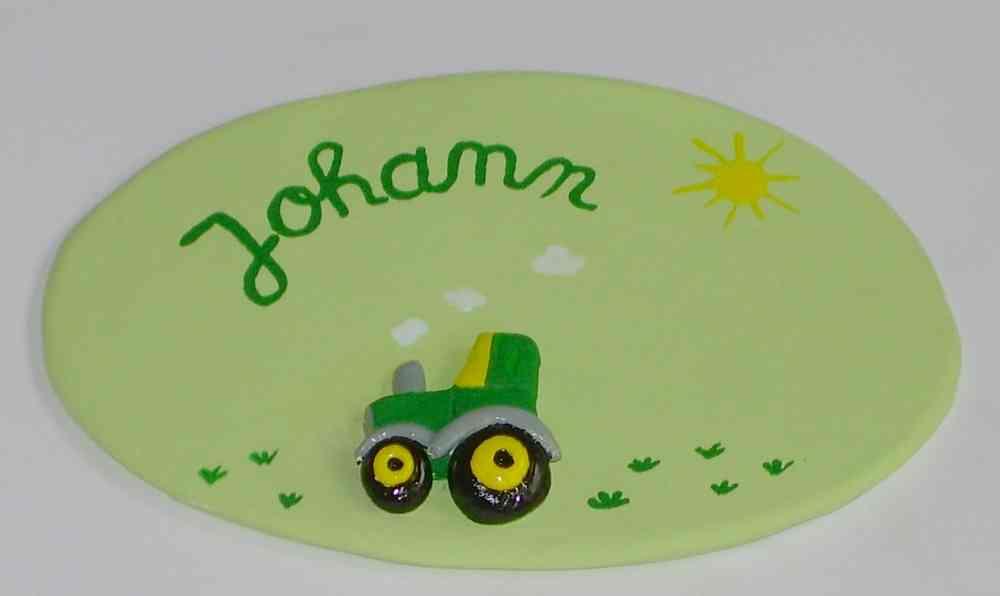 Tuerschild Kinderzimmer Traktor